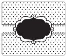 Crafts Too 12.5 x 15cm Embossing Folder - Dotty Frame